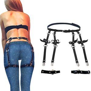 Leather Leg Garter Body Strap Harness Belt Bridal Garters Belts For Women's Lingerie Sex Body Sexy Costumes Suspender