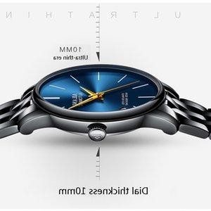 Ailang marca dial ultra-fino moda simples relógios de luxo homens de luxo esportes mecânicos relógio de pulso couro relógio masculino montre homme