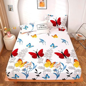 Sheets & Sets 2021 Product 1pc 100% Polyester Printing Fitted Sheet With Four Corners And Elastic Band Cases Need Order