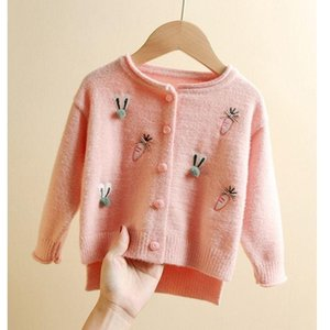 Pullover 2021 Autumn Winter Children's Korean Boys Sweaters Baby Cardigan Printing Top Long Sleeve Coat Casual Tunic Embroidery