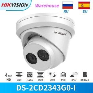 Hikvison IP كاميرا 4MP IR Poe Dome DS-2CD2343G0-I CCTV Cameras الأمن في الهواء الطلق IP67 مع فتحة بطاقة SD كشف الحركة Onvif1