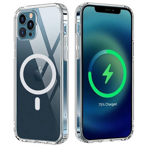 TPU PC Magnetic Mage Shockproof High Transparent Safe Case for Apple iPhone 12 12 Pro 12 Mini 12 pro max iPhone 11 11 Pro 11 Pro Max