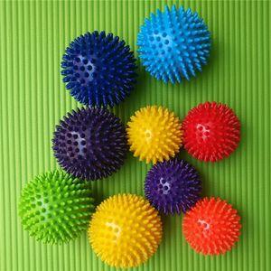 Spiky Point Massage Ball Gatilho Reflexologia Ferramentas Ferramentas Estresse para Pesque Braço Pescoço Pescoço Massager Corpo Para Homens Mulheres Fitness Ball 105 X2