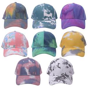 8 Newest styles Tie-dye Ponytail Hat Bucket Hat Peak Ponytail Baseball Cap Newest Street Outdoor Sports Tide Hat LLA461