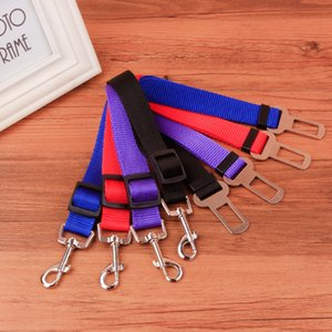 Hot Sale 6 Colors Cat Dog Car Safety Seat Belt Harness Adjustable Pet Puppy Pup Hound Vehicle Seatbelt Lead Leash for Dogs 500pcs SN2420