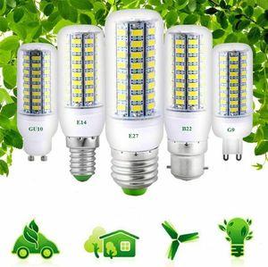 Yeni Varış LED Spot LED Aydınlatma E27 E14 5730 SMD LED Mısır Ampul 3 W 5 W Işık Beyaz Lamba Sıcak Beyaz AC110V / 220 V