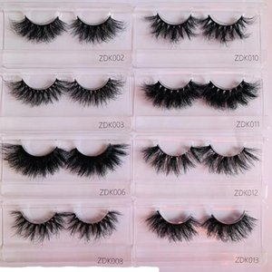 10 pairs 22mm 25mm Super Fluffy Real Mink Lashes ZDK-Series Wild Curly Eyelash Wholesale Bulk