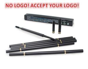 Нет логотипа! Высокое качество Автоматическая бровей карандаш для бровей 6 Цветов Водонепроницаемый Ручка для бровей с кистью Глаз Броу Макияж Инструмент Примите свой логотип