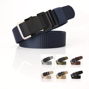 Hot sale Men  women belt High Quality Automatic Buckle Nylon Belt OutdoorTravel Tactical Waist Unisex PY42