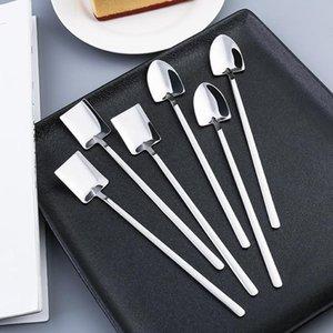 New 304 stainless steel tableware set watermelon spoon creative ice spoon tea spoon dessert coffee ice cream tea spoons DHD4825