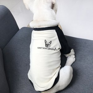 Cartoon Print Round Neck Pet Shrit INS Fashion Pets Dogs Clothes Letter Jacquard Teddy Bichon Apparel