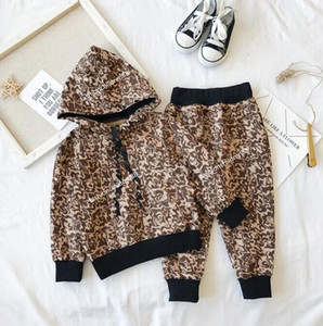 Baby Boy Girls Hooded Clothing Set Kids Jacket Coat Pants Suit for Sports Suits Tracksuits Kids Clothes Boys Girl Set