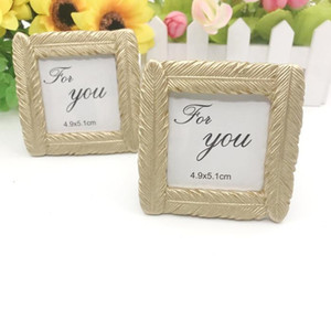 Golden Feather Photo Frame Seat Clip Wedding Supplies Originality Ceremony Gift Picture Frames Creative Groom Bride YHM674