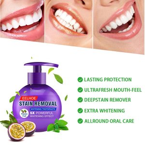 Whitening Toothpaste Whitening Toothpaste Fresh Breath Strong Cleaning Natural Stain Fluoride-Free Pump Design