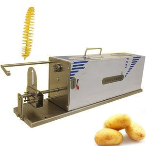 Bükümlü Chips Tornado Patates Kesici Patates Spiral Kesme Makinesi / Patates Kesici Makinesi Spiral / Bahar Patates Kesici
