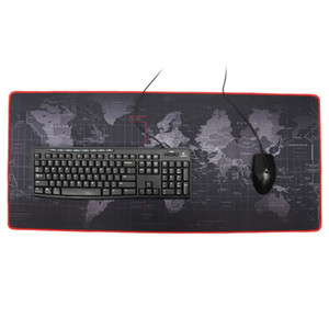 hot World map oversized mouse pad keyboard pad thickened seaming world map mouse pads free shipping