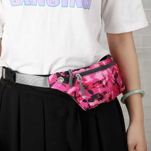 Camouflage Travel Sports Fannypack Outdoor Stretch Sports Pack Men Women Convenient Breathbable Waist Pack Waterproof Phone Belt Bag DDE3561