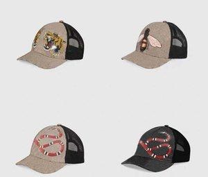 الكلاسيكية أعلى جودة الأفعى ثعبان النحل القط قماش ميزة الرجال قبعة البيسبول مع الإطار حقيبة الغبار الأزياء الإناث قبعة الشمس قبعة دلو جديد