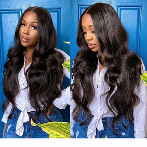 Long Brazilian Body Wave Lace Front Wig 28 30 32 34 36 38 40 Inches Lace Front Human Hair Wigs Pre Plucked Remy Lace Wigs