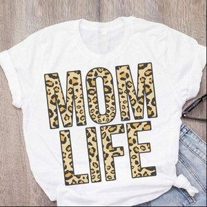 Womens mother leopard print cute T shirt mother short sleeved summer ladies womens tops T shirt tee female