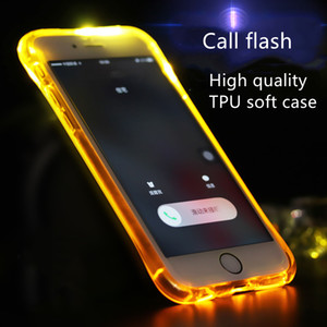 Call Flash Case for Apple iphone 11 pro max X XR XS 7 8 Plus Soft Airbag four-corner anti-fall 6 Colors