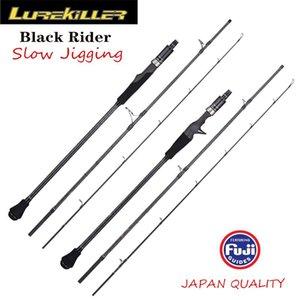 Lurekiller piloto preto japão fuji parte 3 seção portátil lento jigging haste 1.91m transporte / fundição oi poder x carbono barra vara