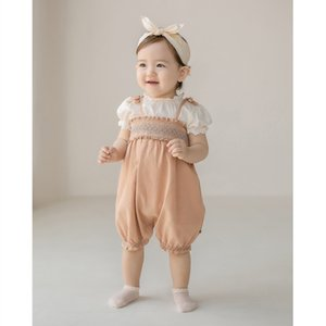 Newborn Baby Girl Romper Suspender With T-shirt Baby Clothes Backless Roupa Infant Toddler Jumpsuit Cotton Baby Romper Overalls Q0201