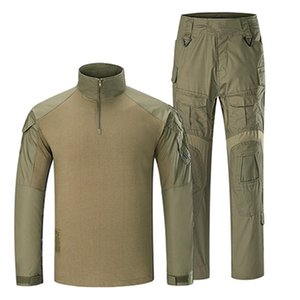G3 Tactical Uniform Multicam Clothing Camouflage Shirt+Paintball Cargo Trousers+Pads Assault Army Militar Suit