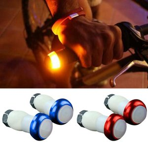 1 Pair Safety Cycling Bike Turn Signal Handle Bar End Plug LED Red Light Lamp Magnetic Handle Light PUZ777