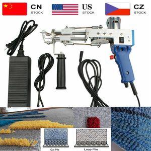 2021 Electric Manual Cut Pile Carpet Weaving Flocking 100-240V Adjustable Rug Carpet Tufting Gun Machine TD-01 02 Cut loop Pile