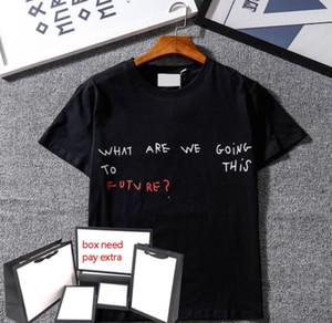 Erkekler Tasarımcı T Shirt Erkek Kadın Mektup Baskılı Tişörtleri Moda Yaz Kısa Kollu Tees Sıcak Satış 9 Stilleri Nefes T-Shirt Tops