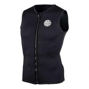 Mens Womens Wetsuit Top Neoprene 3mm Zipper Sleeveless Scuba Diving Vest for Water Sports - Select Sizes