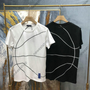 Yaz Lüks Tasarımcı Erkek Tişörtleri Geometrik Hatlar için Baskı T Shirt İşbirliği T-Shirt Yüksek Kalite Rahat Tops Tee
