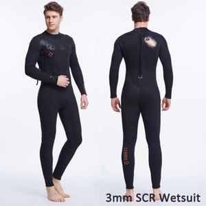 Dive & Sail Brand NEW Cool Black Wetsuit 3mm SCR Nylon Men's Wet Suit Neoprene with Plush Lining Back Zipper Jumpsuit