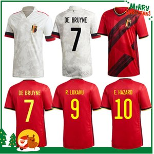 2020 Belgique Home Away Lukaku Hazard Kompany de Bruyne Mertens Soccer Jersey 2021 Homme adulte et kit Kit Kit Sports Football Shirt