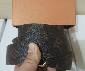2021 Fashion Big buckle genuine leather belt with box designer belts men women high quality new mens belts
