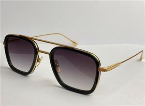 Moda design homem óculos de sol 006 quadrado quadrado estilo vintage uv 400 eyewear ao ar livre com caso