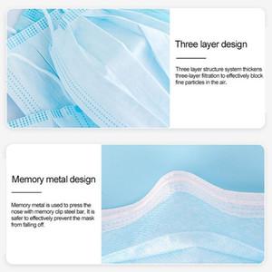 3 katmanlı toz geçirmez maskeleri yüz elastik küpe ile tek kullanımlık anti toz koruyucu maske ABD stok asap nakliye