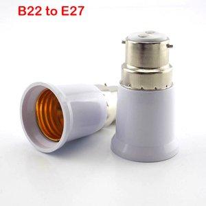 wholesale single B22 to E27 Lamp Base LED Corn Bulb light Light Holder Converter Socket Adapter Conversion Fireproof Material