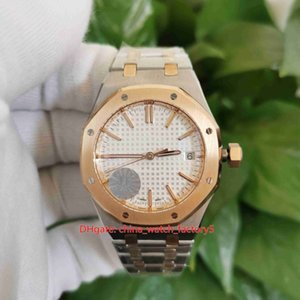 JF Maker Best Quality Watches 37mm Offshore 15450 15450SR.OO.1256SR.01 18k Rose Gold CAL.3120 Movement Transparent Automatic Ladies Watch Women's Wristwatches