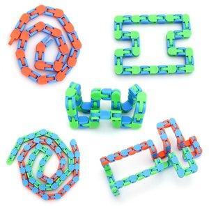 Descompressão Brinquedo Bicicleta Cadeia de Cadeia Pulseira Cadeia Fiddle Anti Stress Sensory Sensory Toys Finger Autism Training Fidget Brinquedos H24K5O5