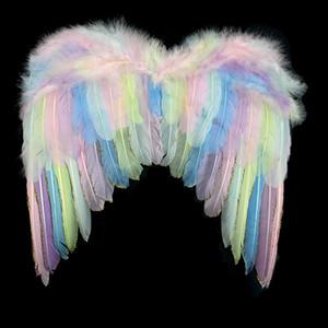 Unicornio Niños Raiow Wings Angel Feather Princess Little Niña Juguete Fairy