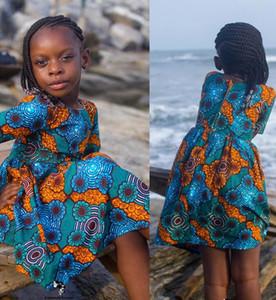 Summer Girl Dress Flower Pattern Baby Girl Dress Children Sundresses Kids Fly Sleeve Dresses ins girls floral beach dress