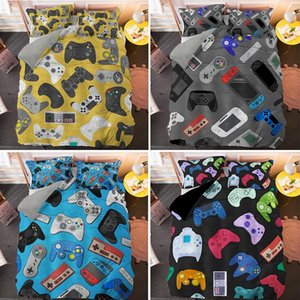 Boys Gamer Lovers Bedding Set Cartoon Game Luxury Duvet Cover King Queen Double Bed Covers Home Textiles 210316