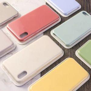 iphone 11 original retailkasten mit logo flüssige silikongehäuse schmutzig fliegerfest für ip 12 pro max xr xs 8 7 6 plus