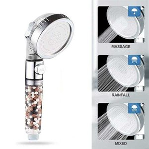 Filtration Shower Head Ionic Stone Stream Handheld Multi-function 3 Modes Replacement pressurized Water-savingH0916
