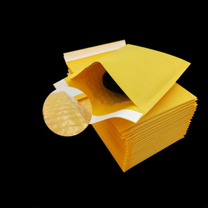 Multi-Sizes Yellow Packaging PE Bubble Bags Kraft Bubble Mailing Envelope Bags Bubble Mailing Courier Bags Neew Arrival