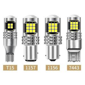 Car Headlights 1PCS P21W 1156 Ba15s T15 W16W 1157 7443 LED Lights Reverse Lamp With 3030 24SMD High-brightness Chips