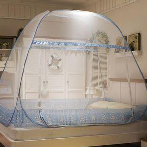 Mosquito Net Portable Free Installation Anti Tent Bi-parting Bed Curtain Netting Mesh Home Textile Mongolian Yurt W