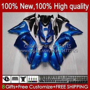 طقم فيرينغ ل Kawasaki Ninja 650R ER 6F ER 6 F Pearl Blue New ER6F-650R 29HC.6 ER6 F 650 R ER6F 06 07 07 08 ER-6F 2006 2008 2008 كامل الجسم